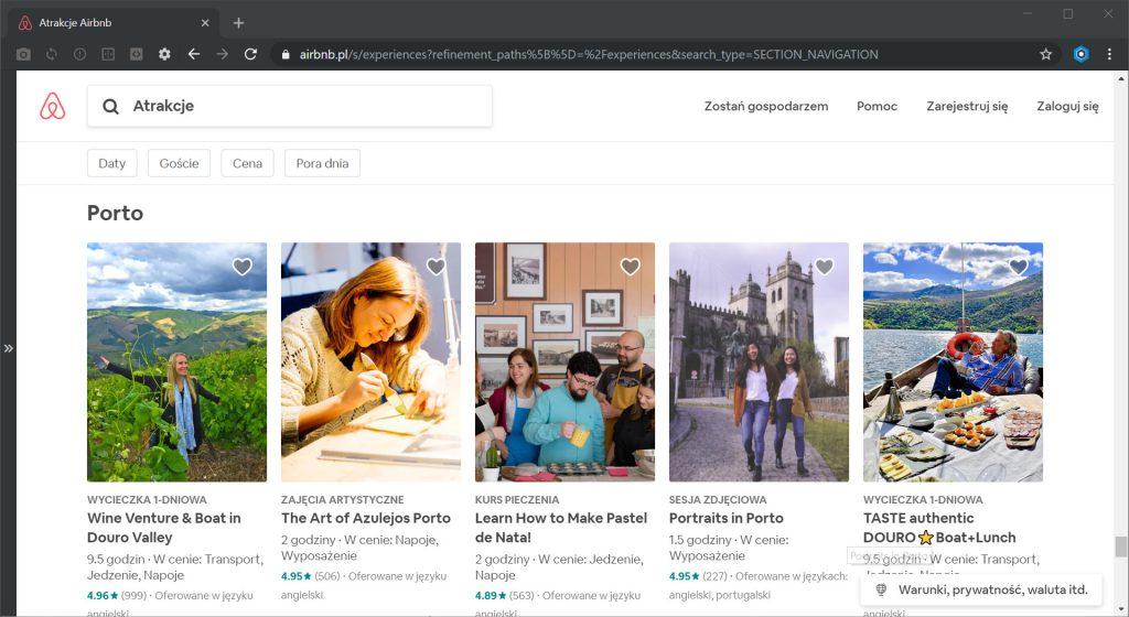 Airbnb atrakcje Porto