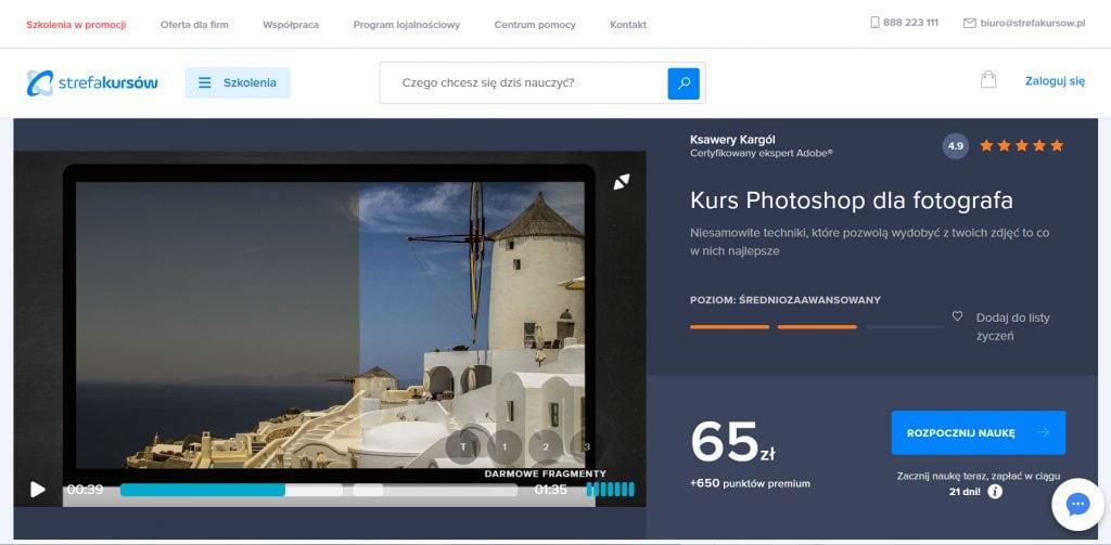 Strefa Kursow - Photoshop dla fotografa