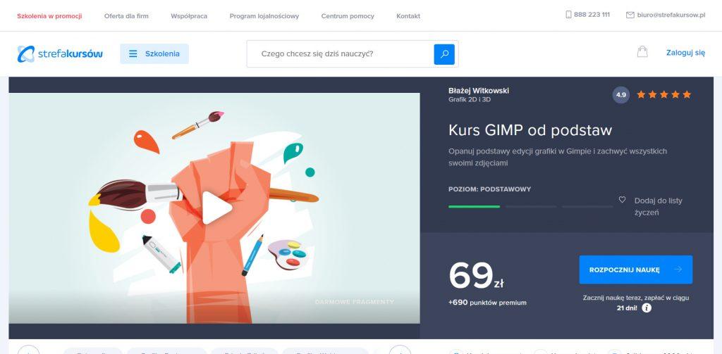 Strefa Kursów GIMP od podstaw