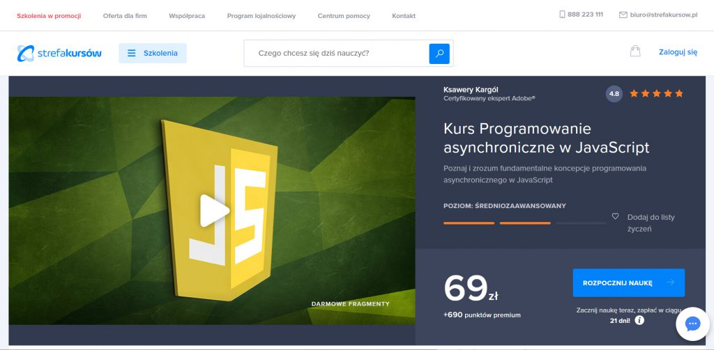 Strefa Kursów JavaScript programowanie asynchroniczne